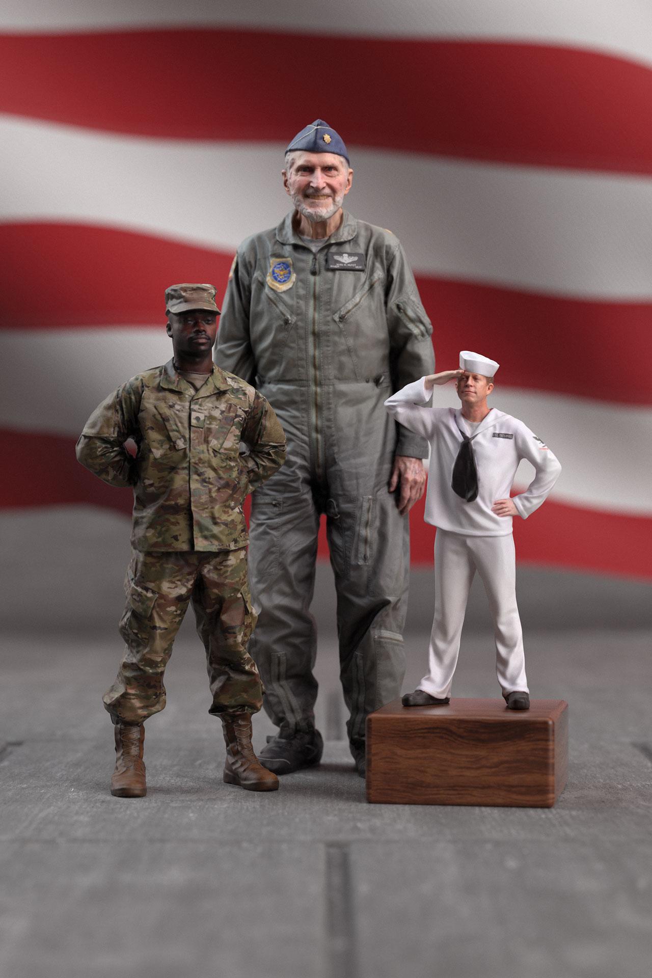 3 military men.