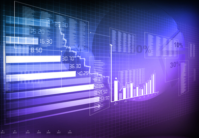 Stock footage graph of data