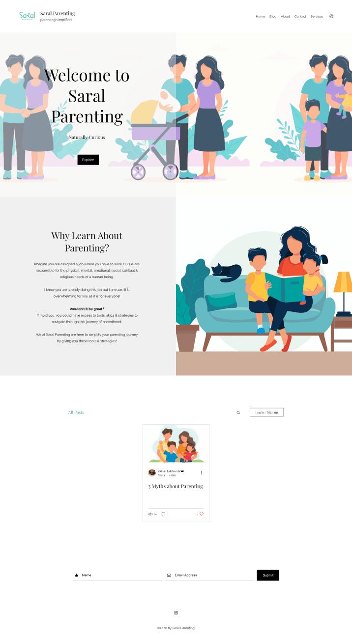 Saral old website