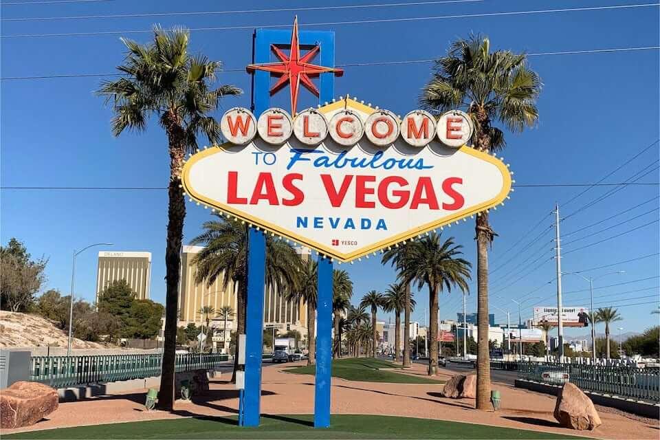 panneau bienvenu à Las Vegas