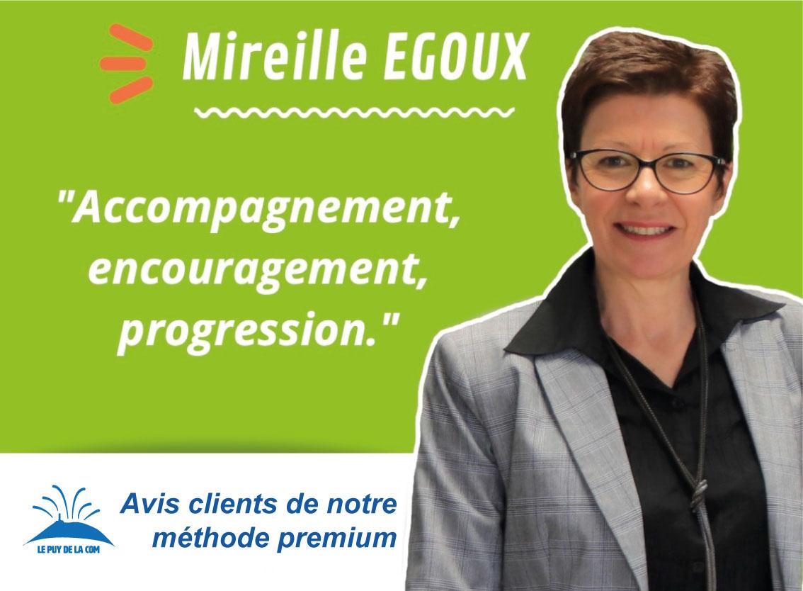 avis client Mireille Egoux - Algotis