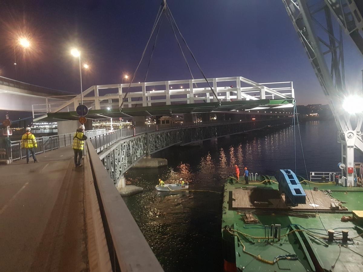 Temporary bridge Lidingö
