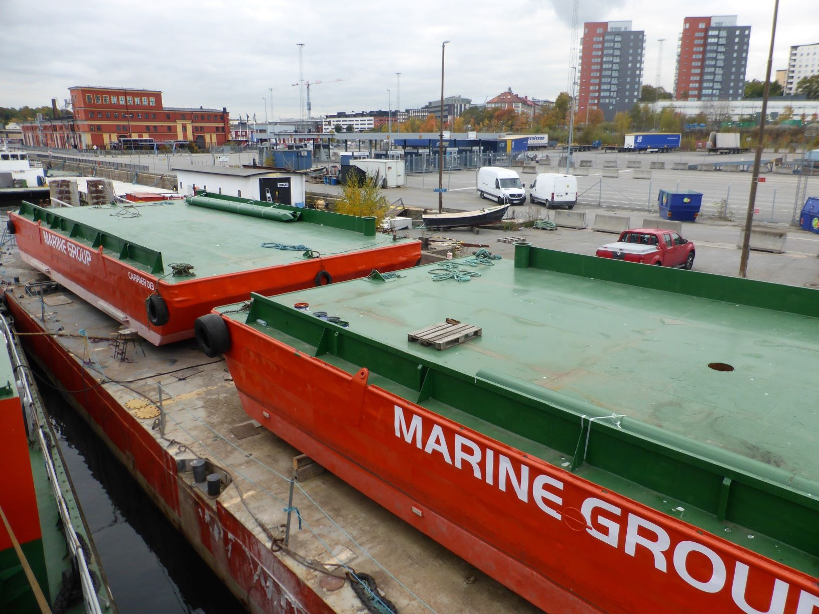Conversion two barges