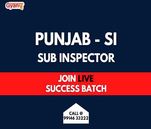 Punjab Sub Inspector Online Coaching