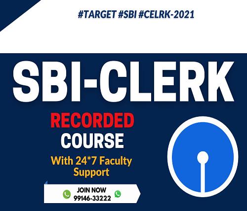 SBI Clerk 2021 Online Coaching