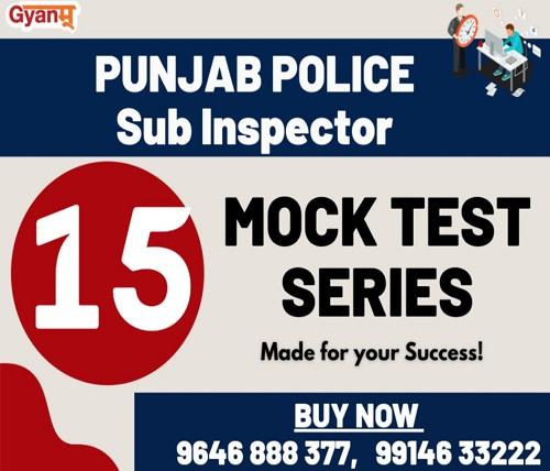 Punjab Police Sub Inspector Mock Test Series