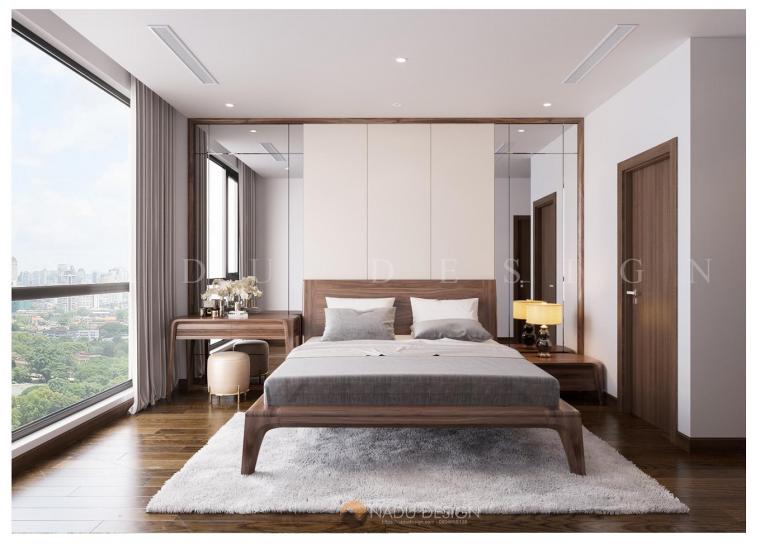 Thiết kế nội thất gỗ óc chó chung cư cao cấp