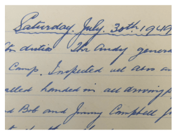 a hand written latter dated on Saturday July 30th, 1949