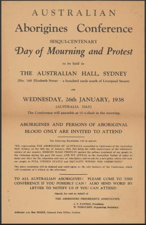 Photo of Australian Aborigines Conference Letter 1938