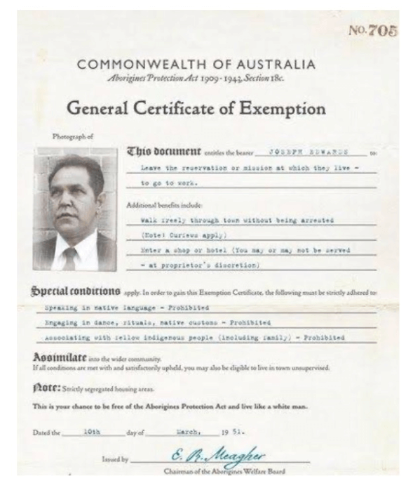 An image of a General Certificate of Exemption from 1951