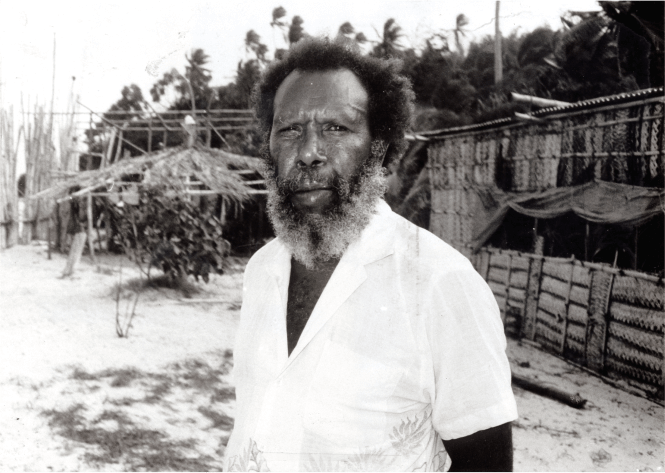 A black and white photo of Eddie Koiki Mabo