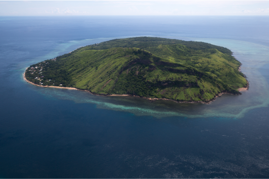 A photo of Mer Island in the Torres Strait