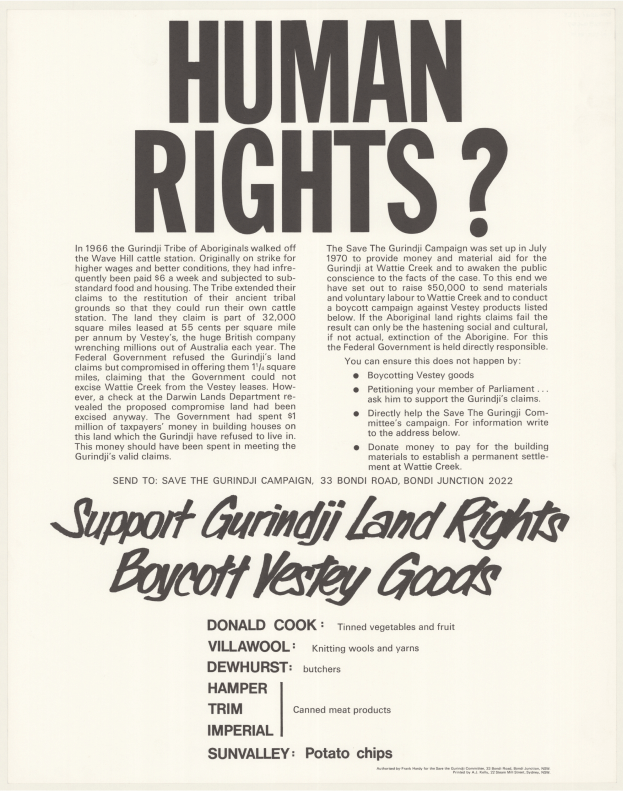 A political protest poster published in Sydney by A. J. Kelly. Source: National Library of Australia