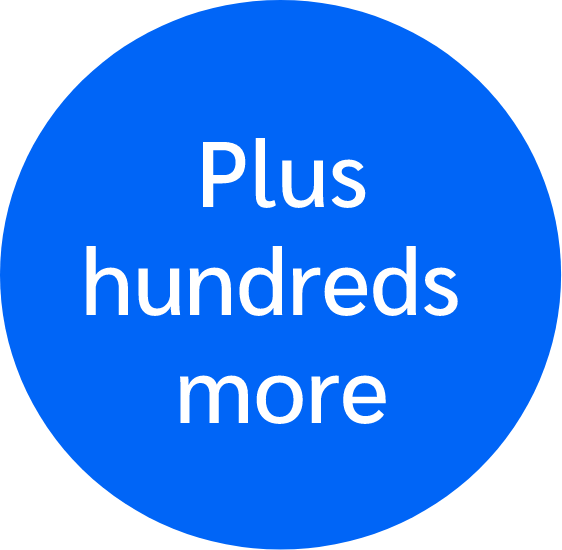 plus-hundreds-more