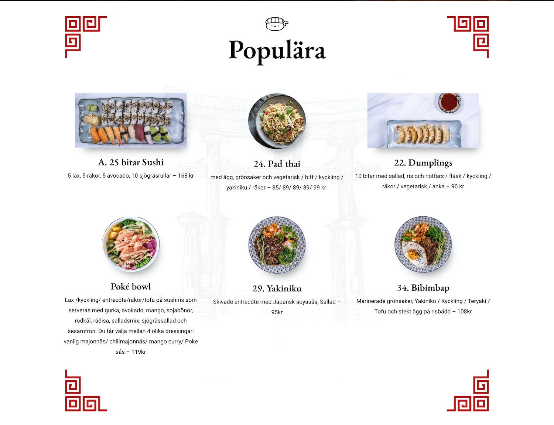 Populära rätter till SushiHammarby