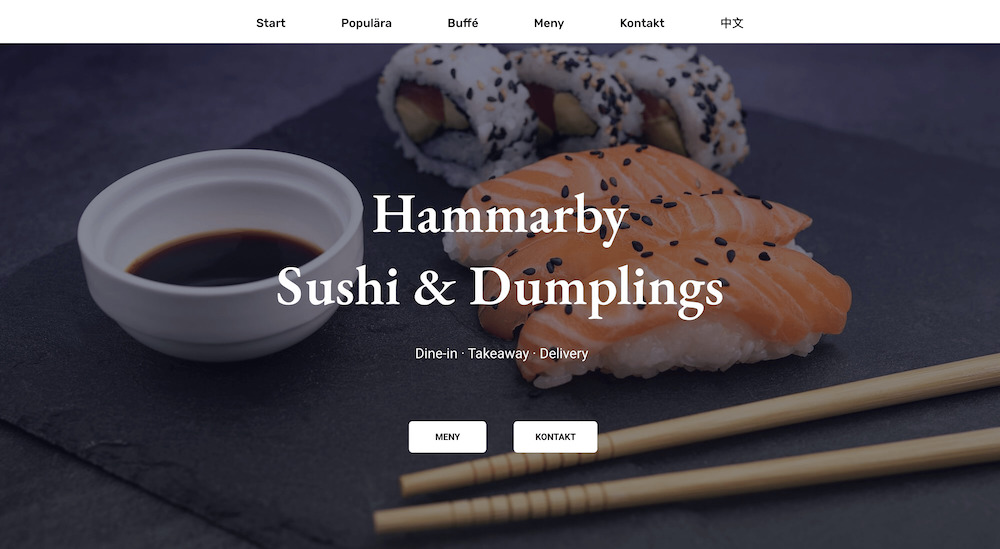 Showing the Hammarby website