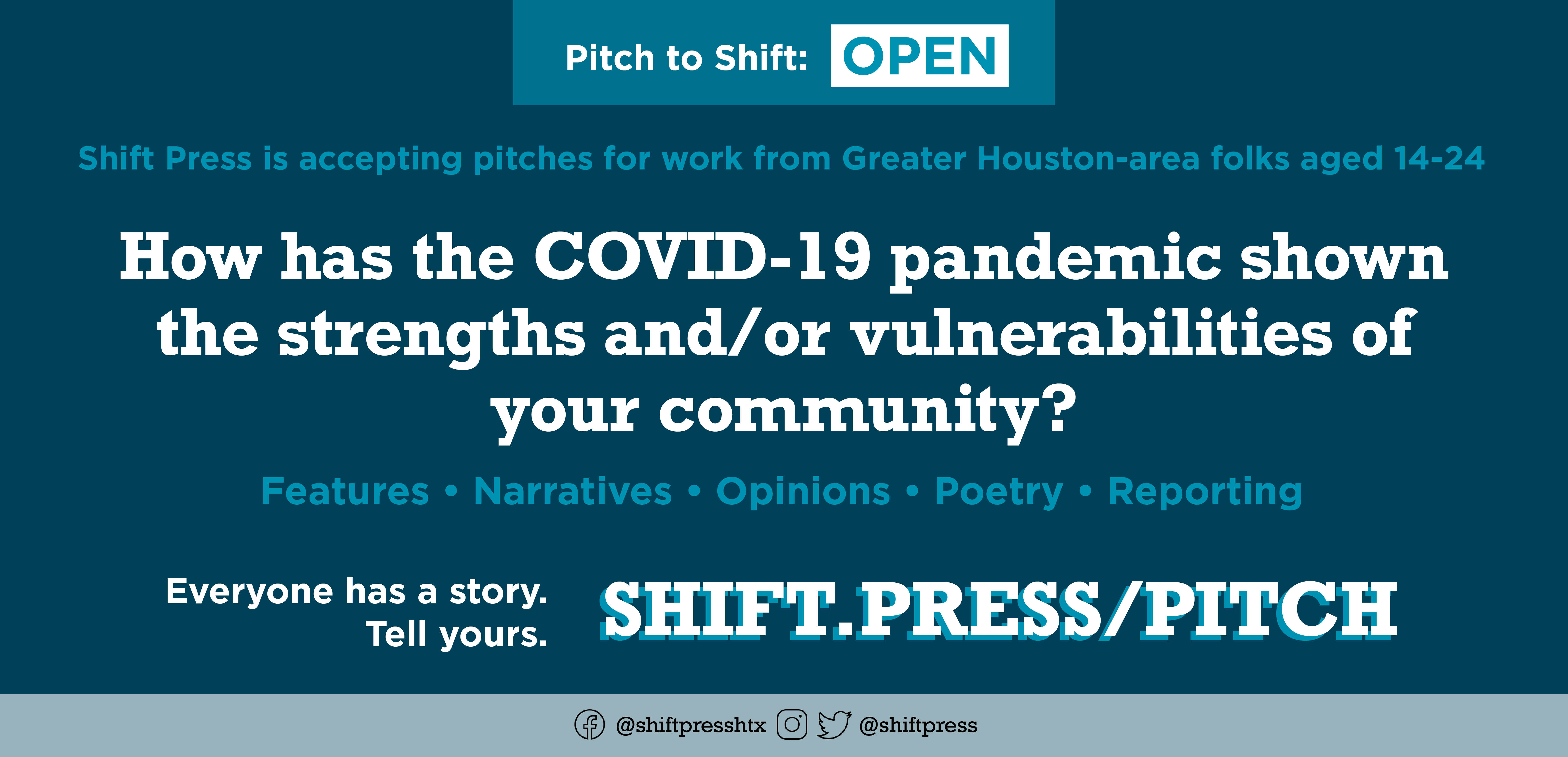 Shift Press Open Pitch Flyer