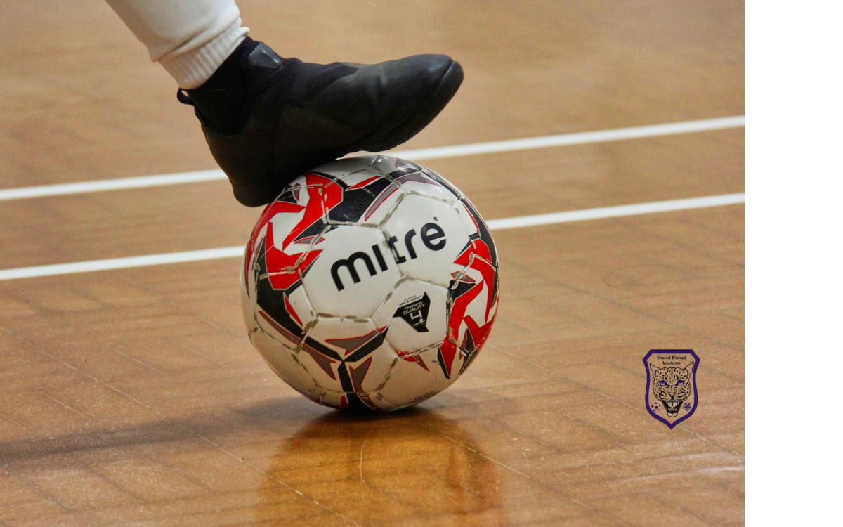 CampaignHero and Finest Futsal Academy case study, football boot on football