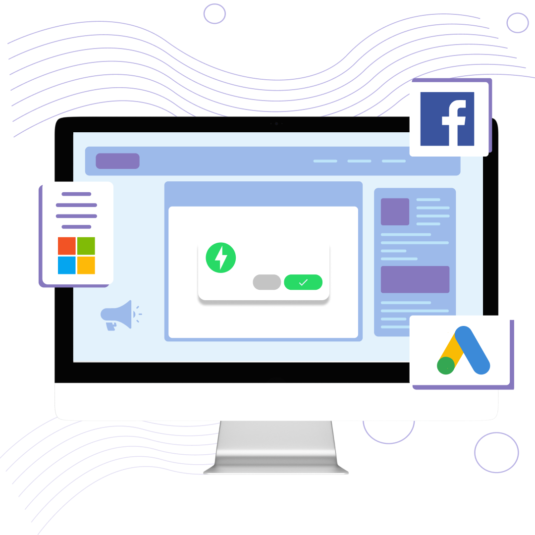 CampaignHero app screenshot access to Facebook, Google and Microsoft advertising BETAs and ad spend vouchers