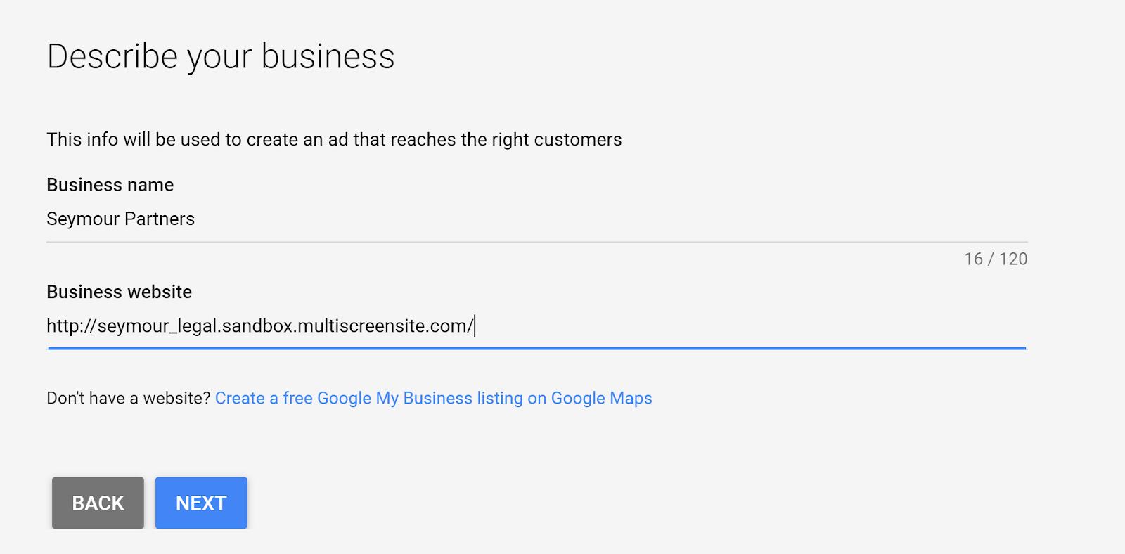 Google Ads Smart Campaign - Step 8