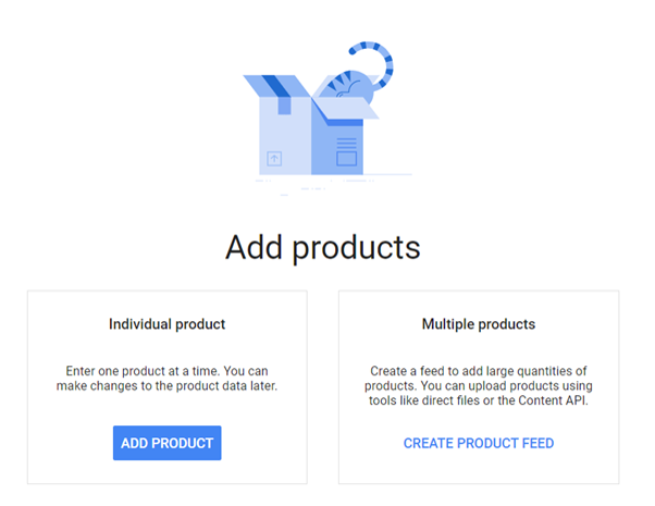 Google shopping- adding products