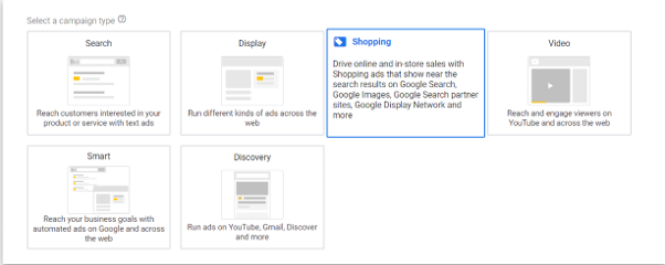 Google shopping- setting up
