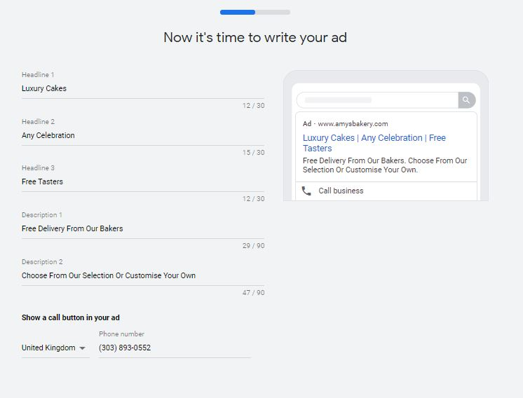 Writing your ad headlines and descriptions for Google Smart Campaigns