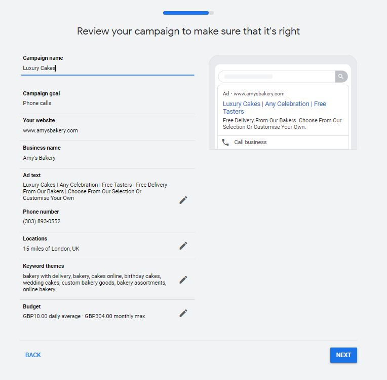 Finalising your Google Ads Smart Campaign