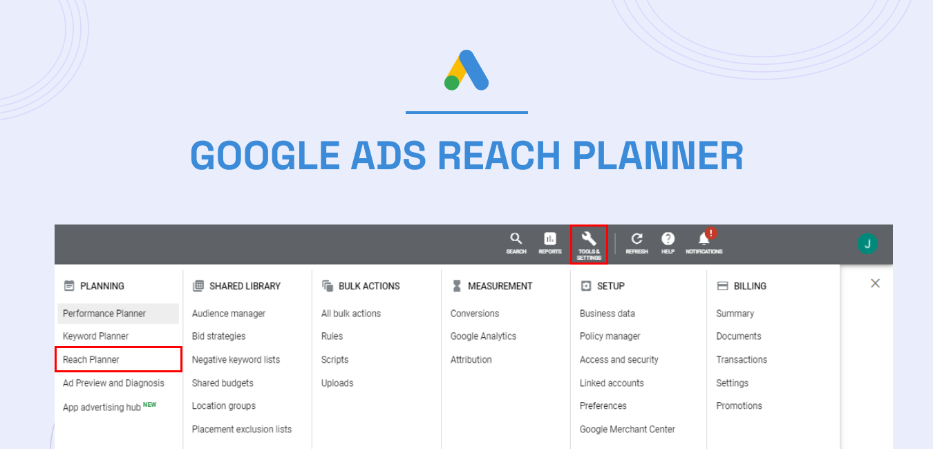 Google Ads Reach Planner