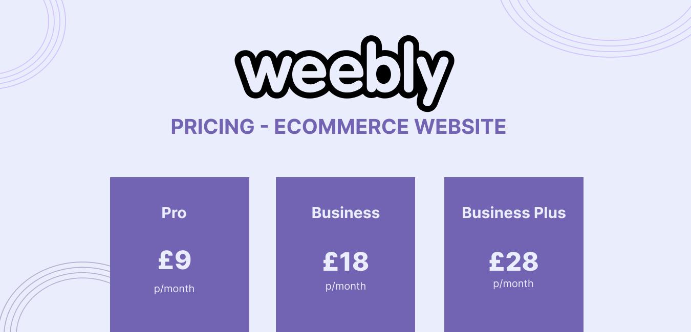 Weebly eCommerce Website Creation Platform Pricing