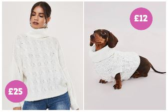 The Sun Newspaper - Missguided matching dog and owner jumper