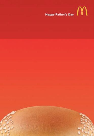 Fathers Day Digital Advertising Campaign McDonalds