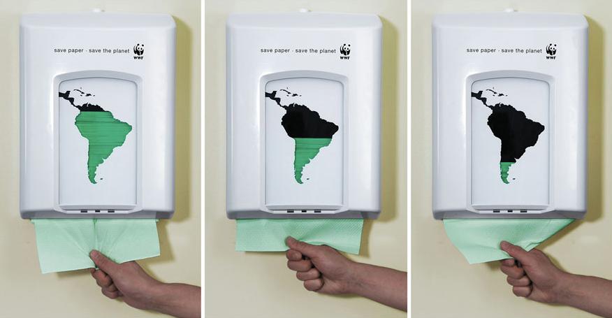 Paper towels print advertising WWF