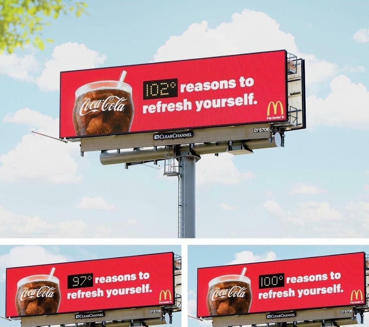 Refresh yourself print campaign by Coca Cola
