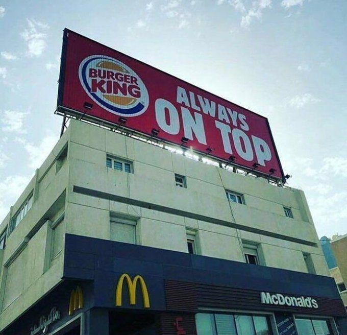Always On Top Print Advertising Campaign Burger King