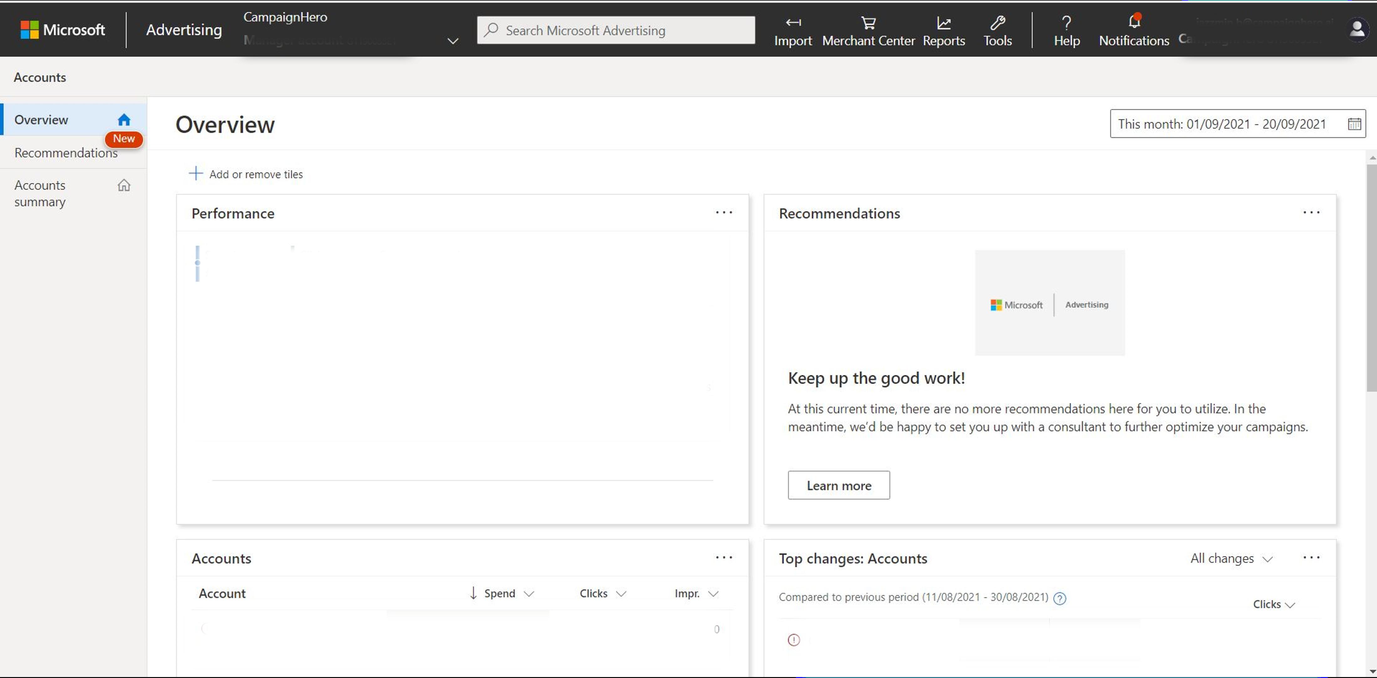 Microsoft Advertising Platform Interface