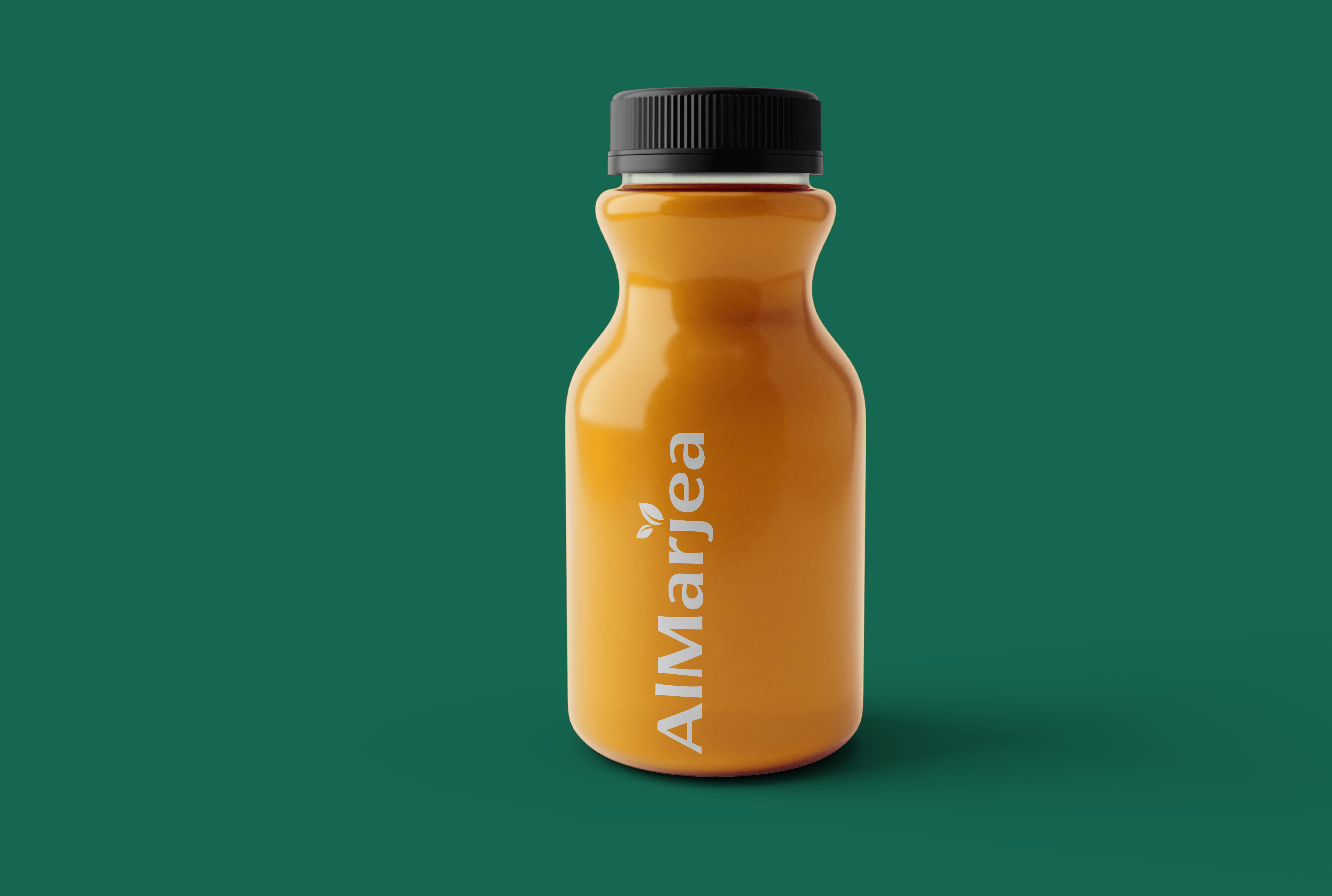 AlMarjea logo on juice bottle