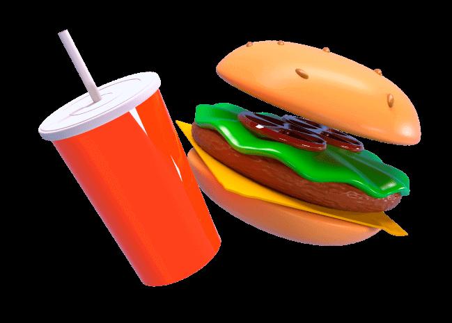 Burger image 3D