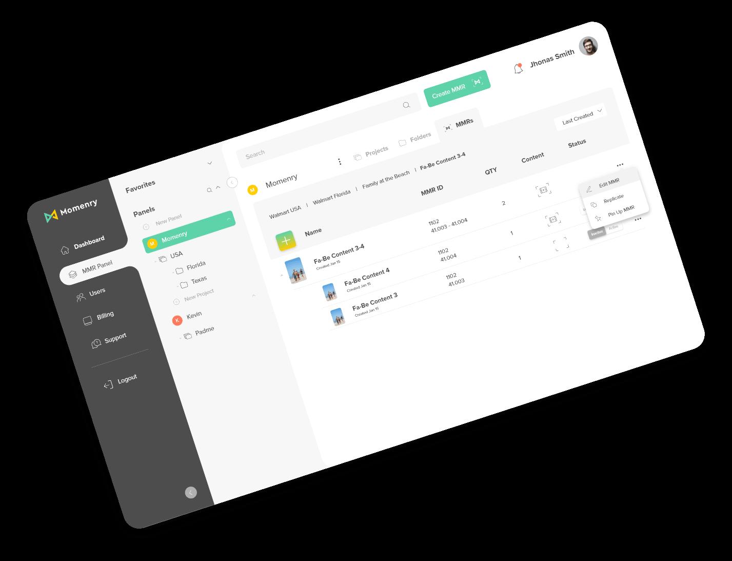 momenry-dashboard