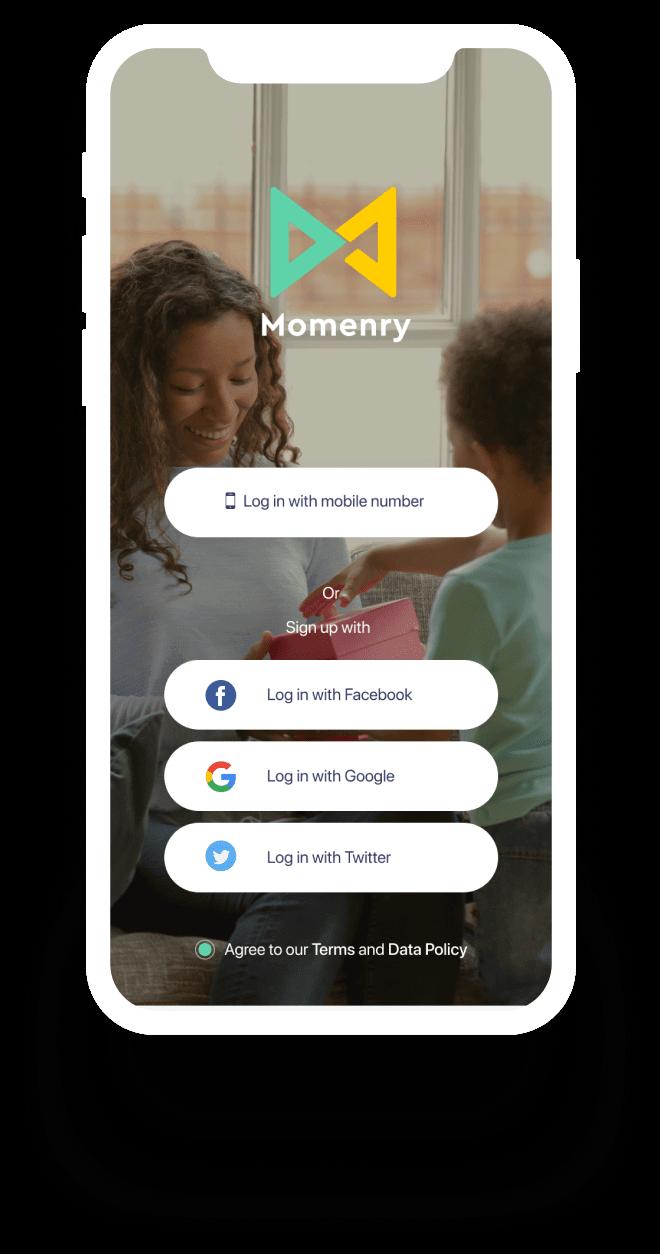 Momenry Social app