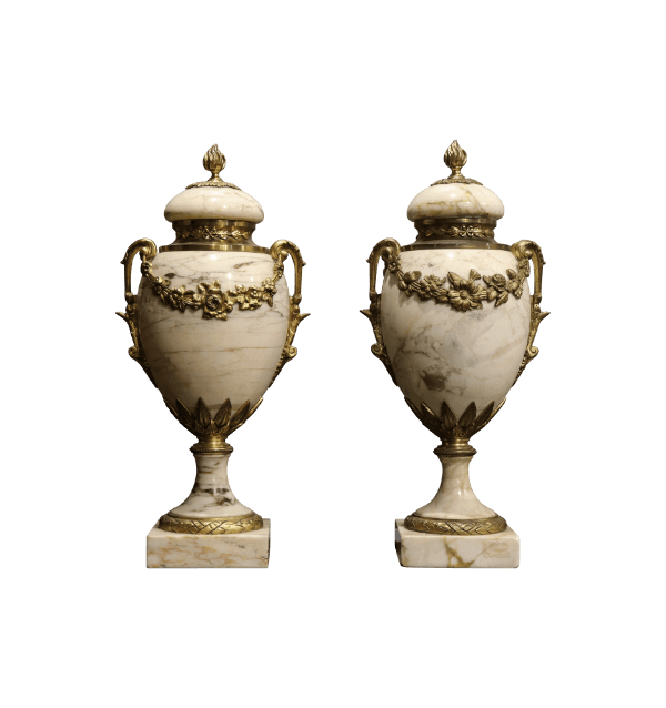 A pair of 19th Century Marble Cassoulets