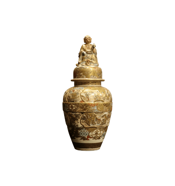 19th Century Satsuma lidded Vase