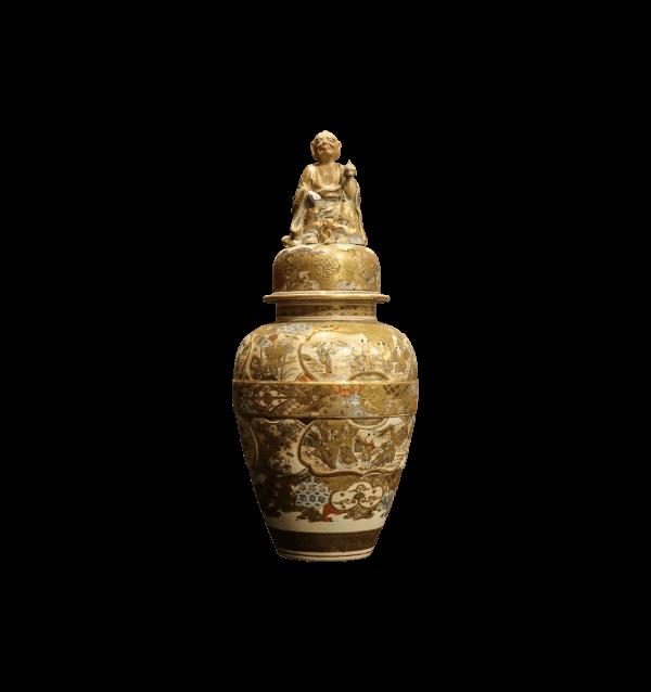 19th Century Satsuma lidded Vase