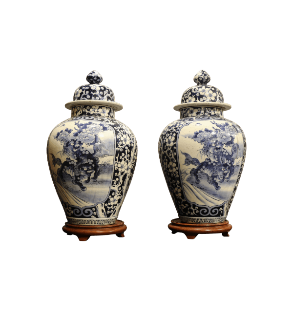 A pair of 19th Century Chinese Vases