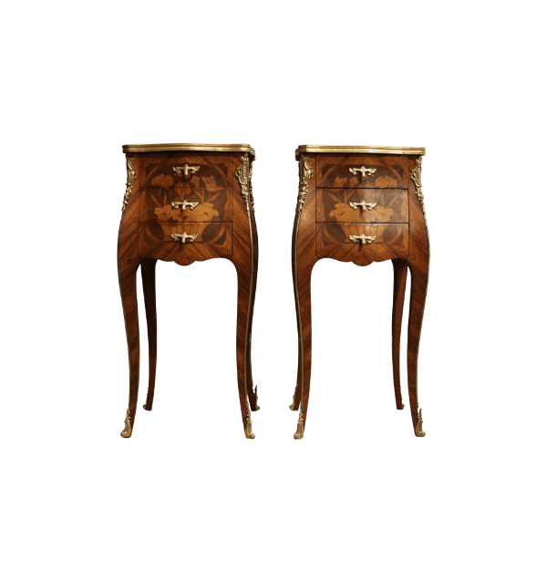 19th Century inlaid Bedside Tables