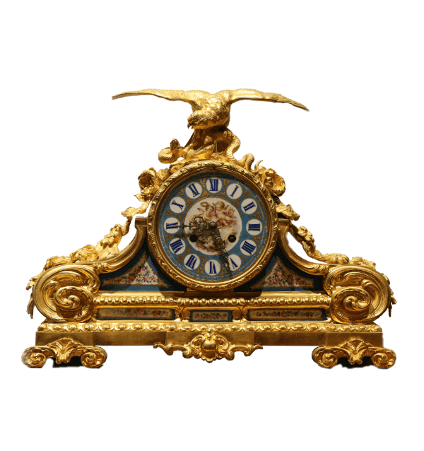 19 century ormolu Porcelain Mantle clock