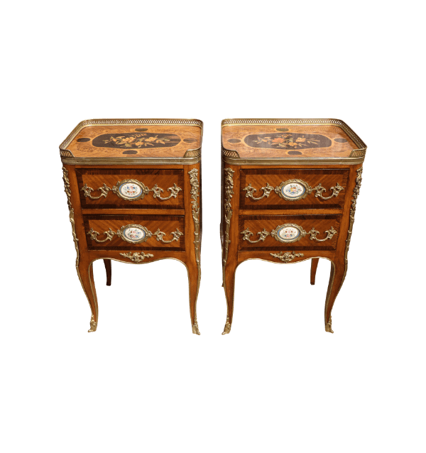 A pair of 19th century Walnut French Chests