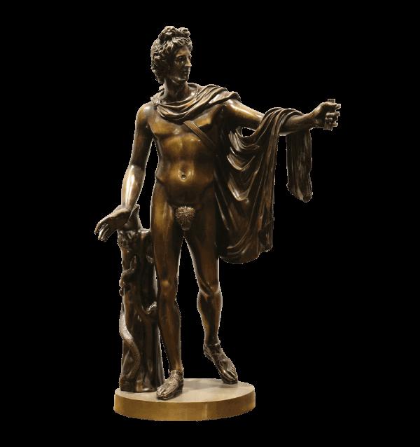 19th century Bronze Statue of Apollo