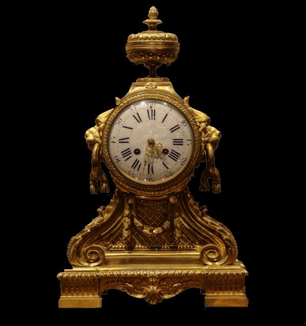 19th century French gilt metal Mantel Clock