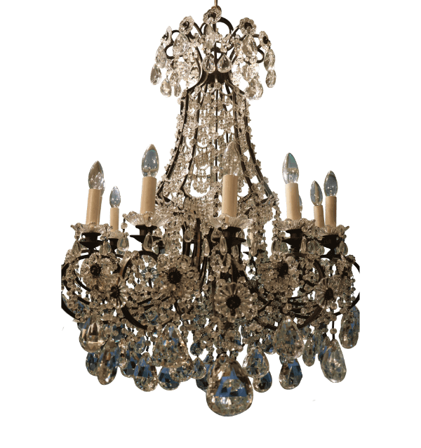 French Maison Baguet Crystal Chandelier